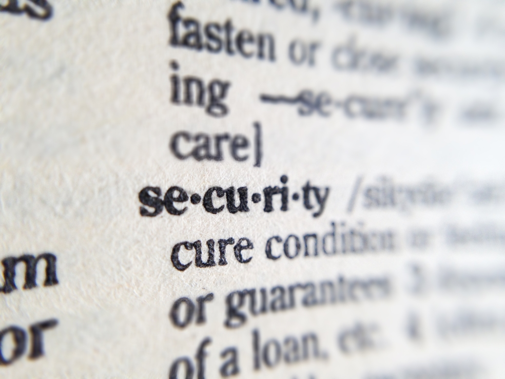 Dictionary listing for Security